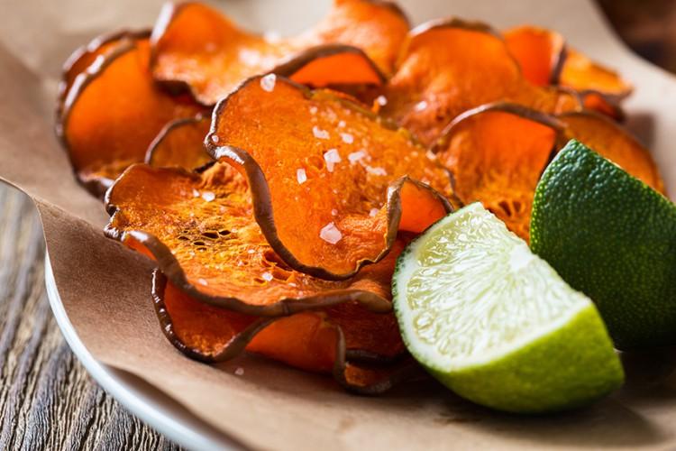 Weight Loss Recipes Sweet Potato Snack Crisps