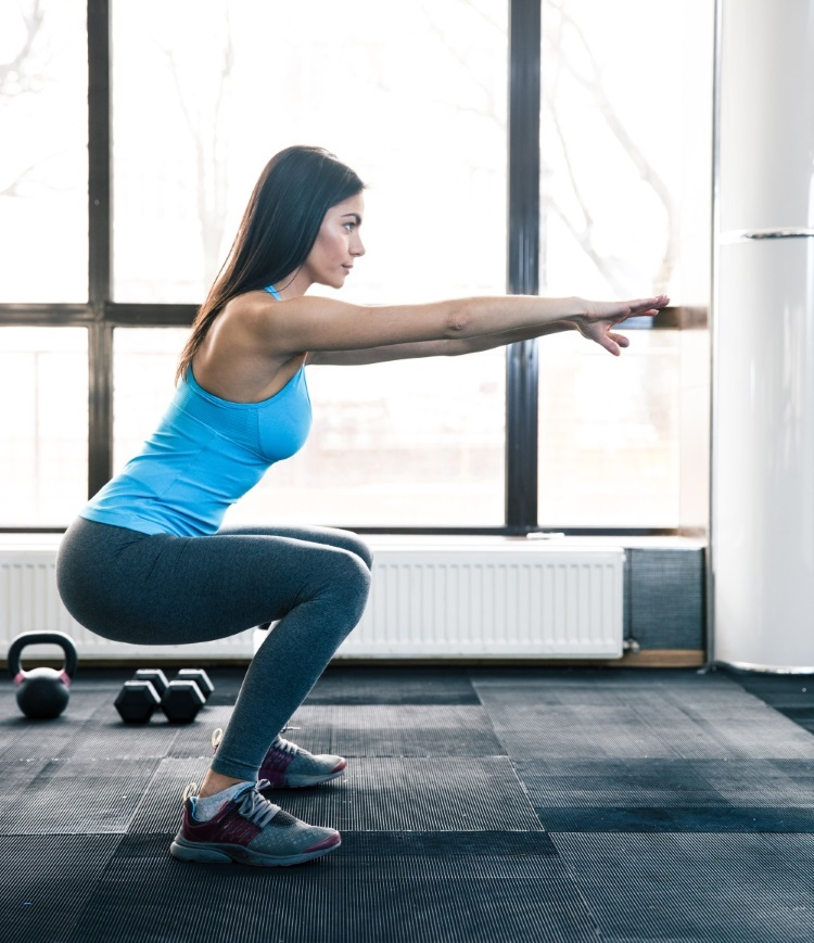 36 Exercises for Belly Fat (No Crunches)-Squat6