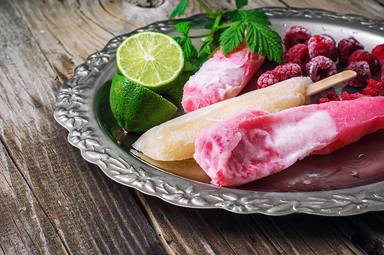 Burn Belly Fat-Tropical Berry Popsicles