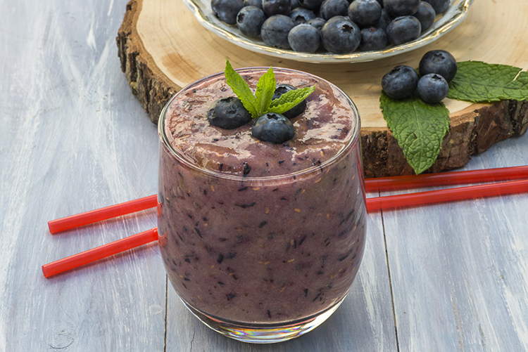 Smoothie Recipes for weight Loss- Blueberry Fat Buster Smoothie