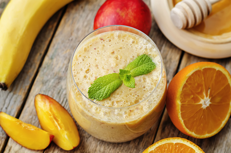 Smoothie Recipes for weight Loss- Peaches and (Almond) Cream Smoothie