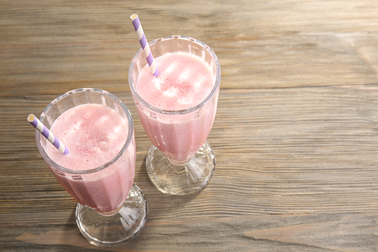 Get A Flat Belly With-Protein shake