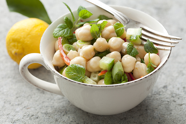 Get A Flat Belly With-Chick pea salad