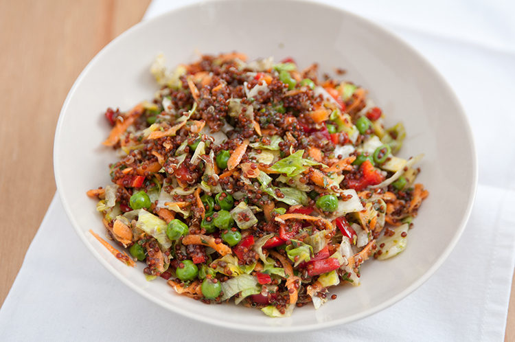 Get Flat Abs with-Red quinoa and veggies salad