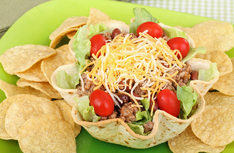 Get Flat Abs with-Taco salad