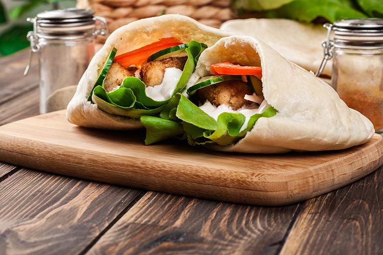 Get Flat Abs with-Mediterranean pita sandwich