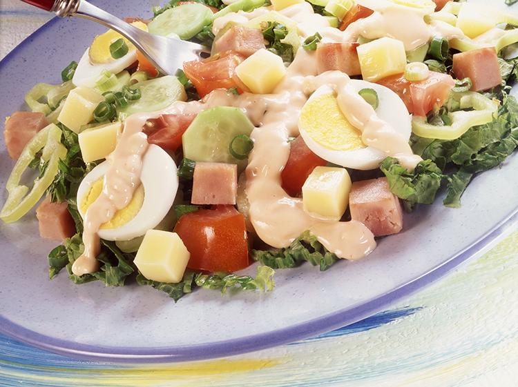 Get Flat Abs with-Healthy chef's salad