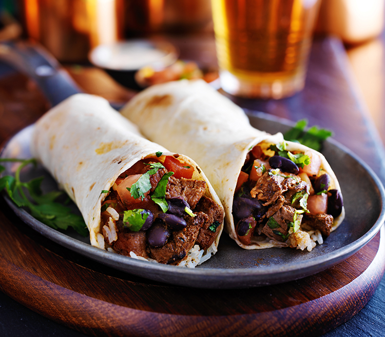 Get Flat Abs with-Black bean wrap