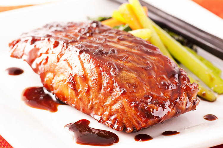 Get Flat Abs with-Honey soy salmon