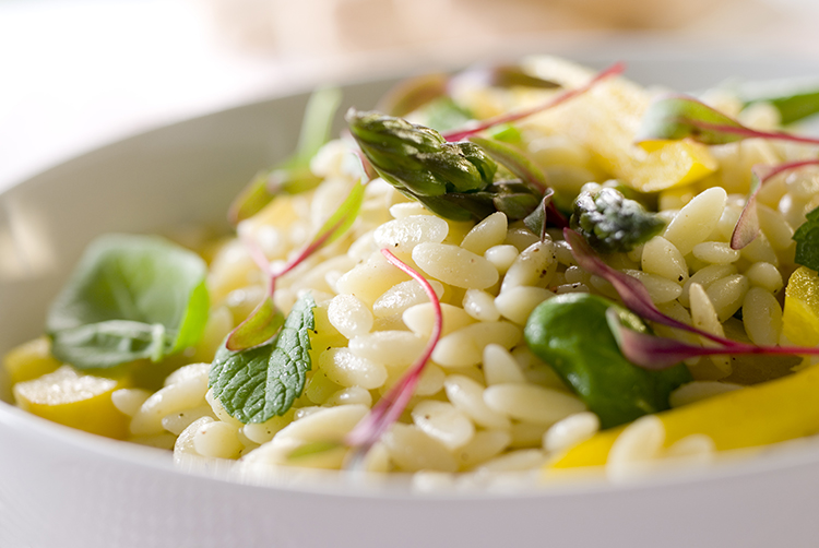 Get Flat Abs with-Asparagus and orzo