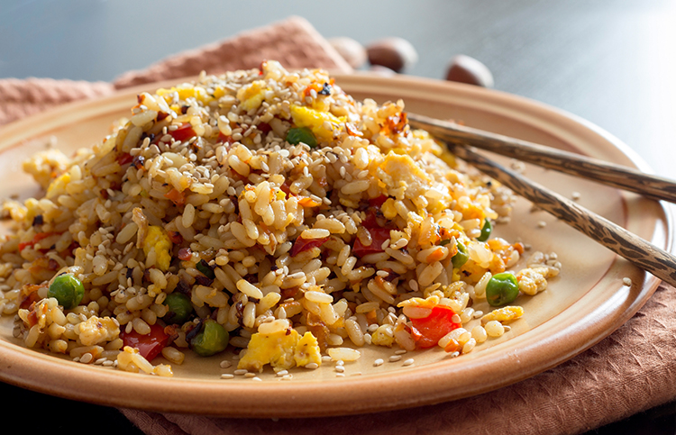 Get Flat Abs with-Veggie fried rice