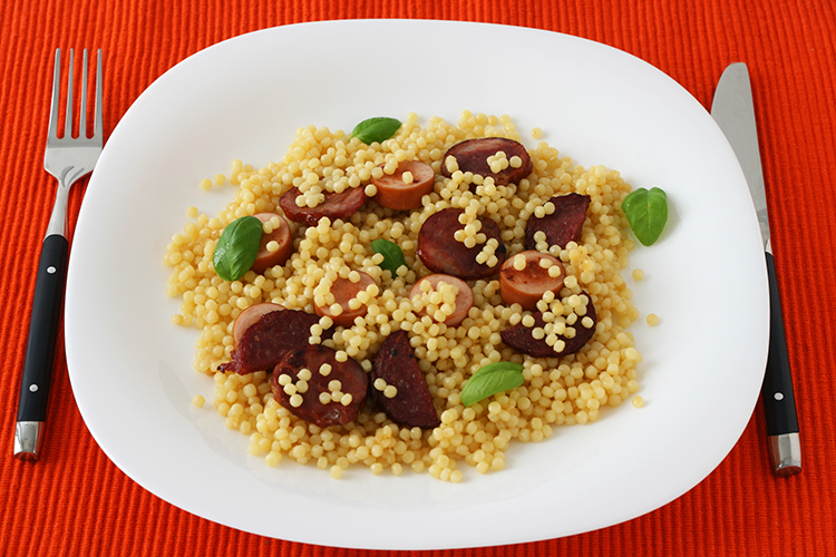 Get Flat Abs with-Couscous with sausage