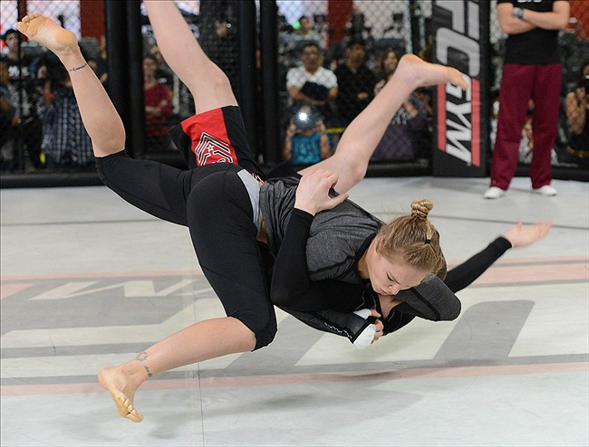 7-Ronda Rousey Slam fitness training and sparring
