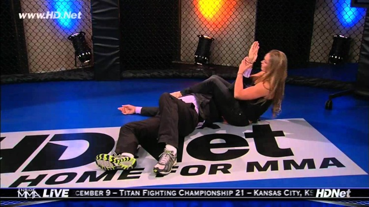 8-Ronda Rousey HD Armbar fitness training and sparring